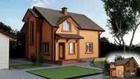 Проект красивого будинку в колоніальному стилі