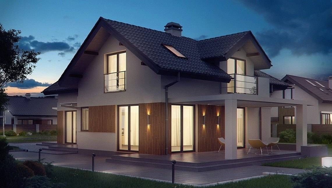 Проект невеликого будинку з мансардою
