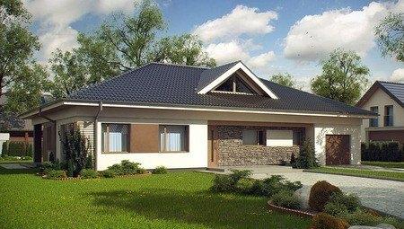 Проект одноповерхового котеджу з 4 спальнями