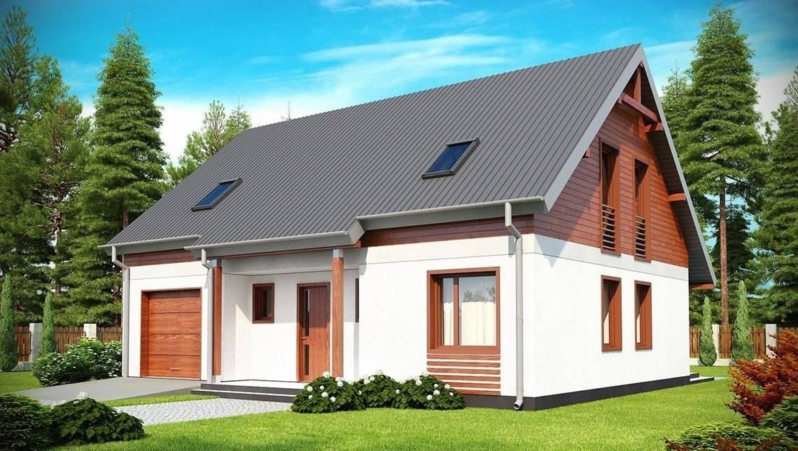 Проект котеджу в традиційному стилі з двосхилим дахом