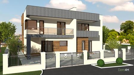 Проект двоповерхового житлового будинку на дві сім'ї