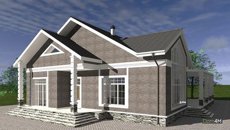 Унікальне планування одноповерхового будинку на 5 спалень і 6 санвузлів