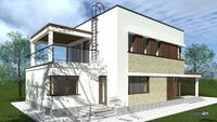 Проект затишного двоповерхового будинку з просторими верандами і терасами