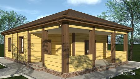 Оригінальний житловий будинок для сезонного проживання