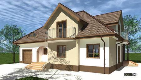 Ефектний житловий будинок з оригінальним дахом