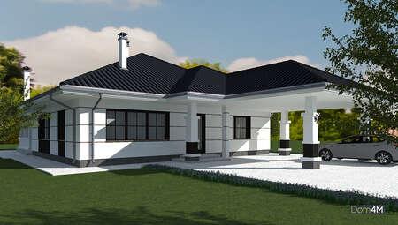 Проект великого котеджу площею 170 кв. м з цокольним поверхом