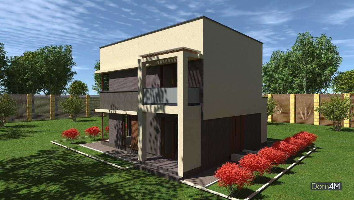 План симпатичного котеджу площею 148 кв. м з просторів терас на іншому поверсі під напівпрозорім навісом
