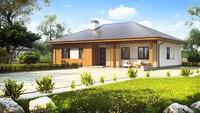 Проект дачного будинку з чотирьохспадовим дахом