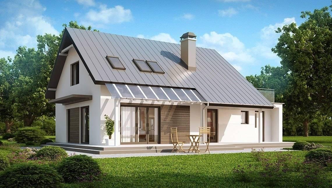 Проект класичного будинку з терасою над гаражем