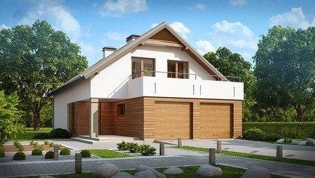Проект будинку з великою терасою над гаражем