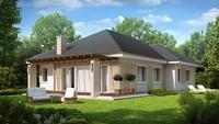 Проект затишного одноповерхового будинку з гаражем на 160 m²