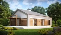 Проект сучасного незвичайного одноповерхового будинку