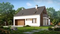 Проект комфортного будинку з гаражем