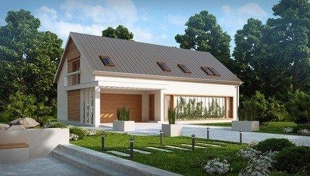 Проект будинку з гаражем для двох авто 9 на 16