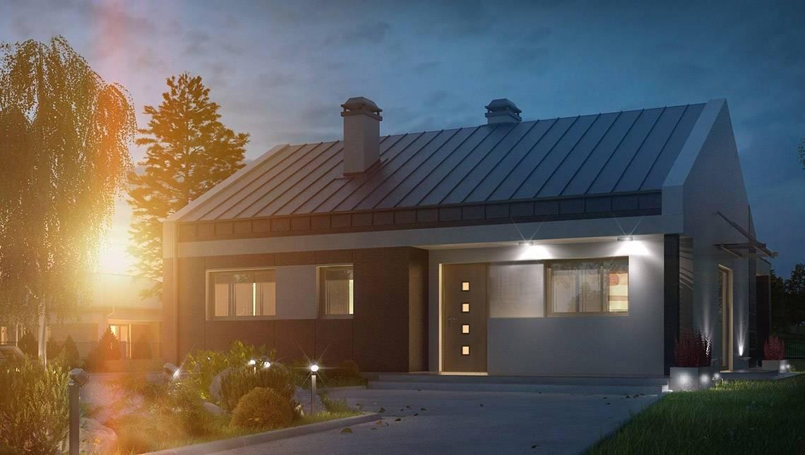 Проект сучасного одноповерхового будинку з незвичайною терасою