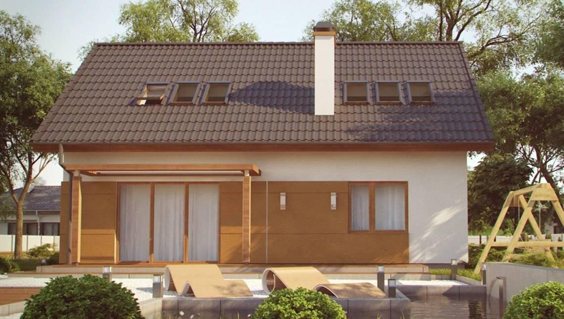 Проект енергозберігаючого будинку з мансардою