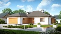 Проект будинку з виступаючим фронтальним гаражем