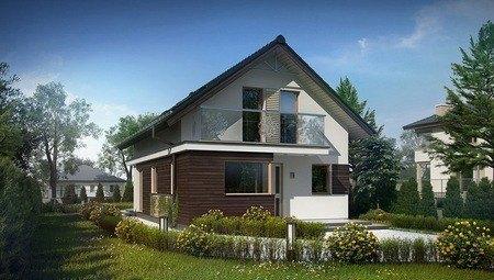 Проект будинку з мансардою для вузької ділянки
