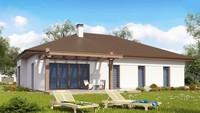 Проект зручного одноповерхового будинку з гаражем для двох автомобілів