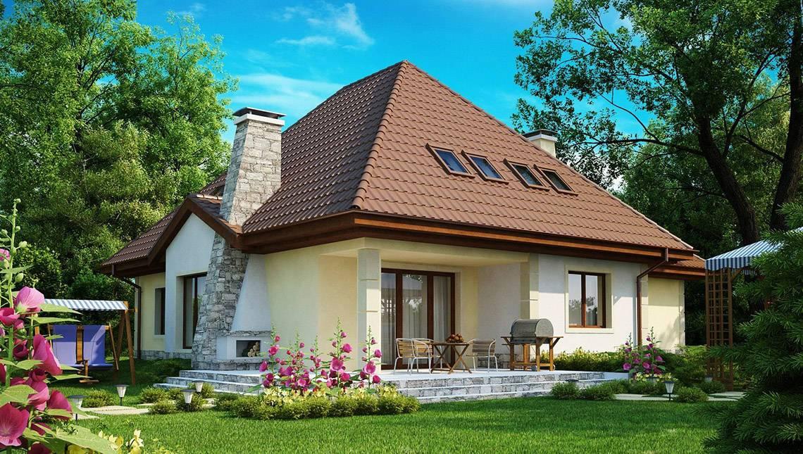 Проект просторого будинку складної форми