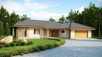 Проект одноповерхового будинку з гаражем, на 200 m²