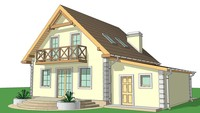 Проект будинку економ класу з гаражем