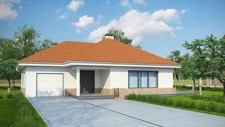 Проект невеликого дачного будинку з гаражем