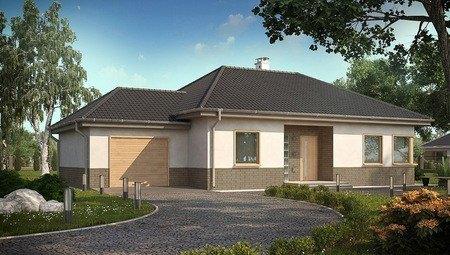Проект одноповерхового дачного будинку з терасою