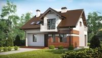 Проект будинку з красивою мансардою