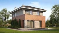 Проект невеликого сучасного будинку з цегляним фасадом
