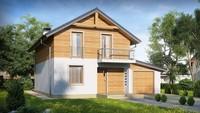 Проект 2х поверхового класичного просторого будинку з мансардою та гаражем