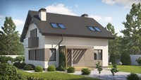 Проект невеликого красивого будинку з мансардою