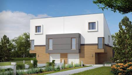 Сучасний стильний будинок на дві сім'ї