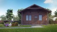 Проект сауни з дерев'яним фасадом