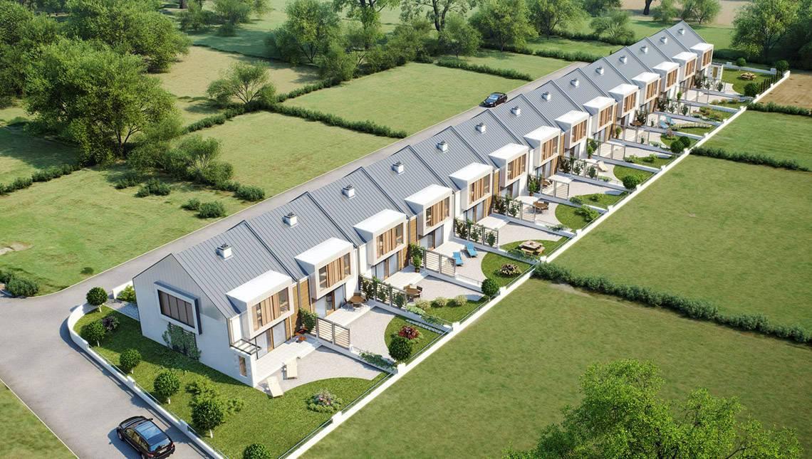 Проект сучасного енергозберігаючого будинку форми таунхаус