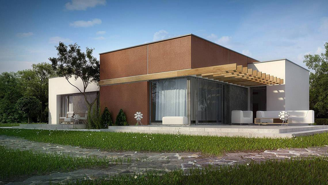 Проект одноповерхового будинку в стилі хай - тек