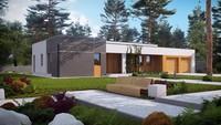 Проект будинку хай тек з гаражем на два авто