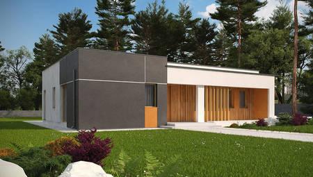 Проект одноповерхового будинку хайтек