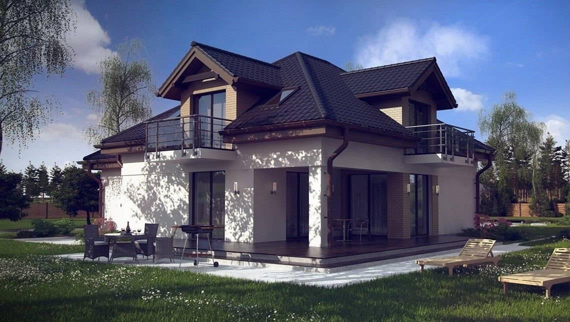 Проект будинку в традиційному стилі з кабінетом на першому поверсі