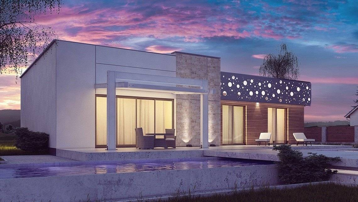 Проект одноповерхового будинку в сучасному стилі