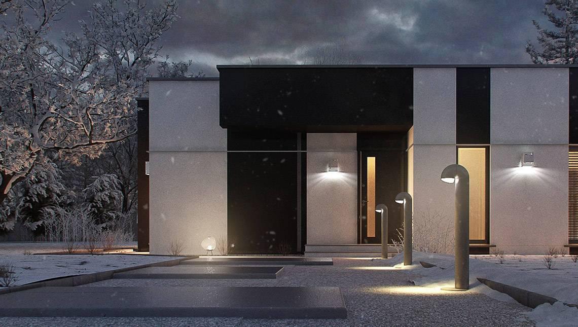 Практичний одноповерховий будинок в стилі хай-тек