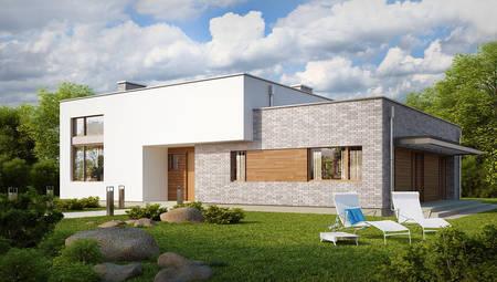 Проект сучасного одноповерхового будинку