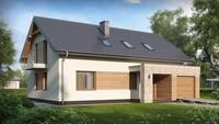 Проект затишного будинку з гаражем