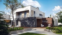 Проект сучасного будинку з додатковим приміщенням