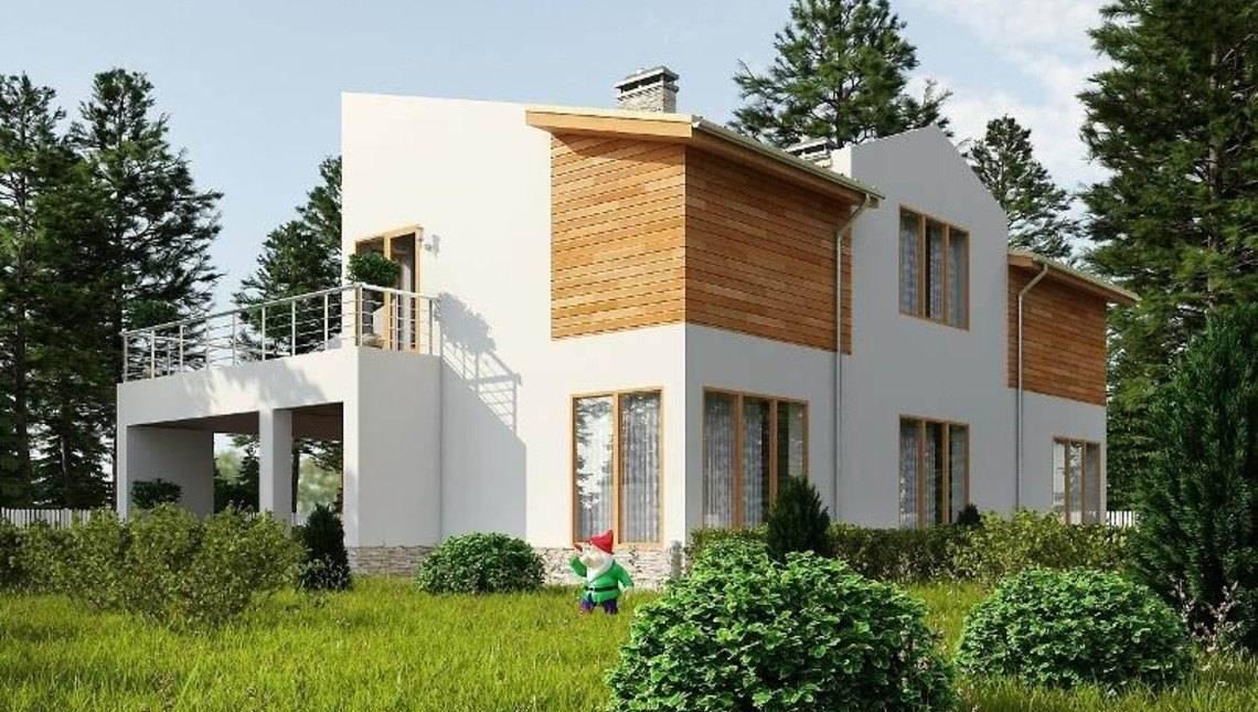 Проект зручного двоповерхового будинку з гаражем