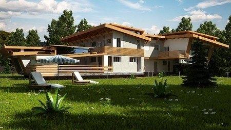 Проект сучасного двоповерхового особняка з басейном
