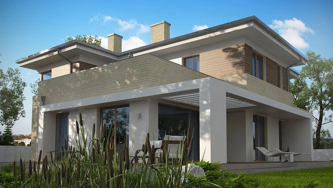 Проект двоповерхового сучасного будинку з лазнею