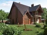 Проект красивого котеджу з цегляним фасадом