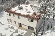 Проект двоповерхового просторого особняка з гаражем