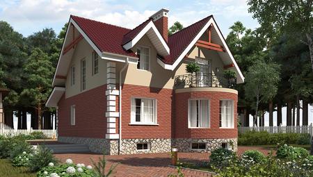 Проект вузького будинку з мансардою і цокольним поверхом